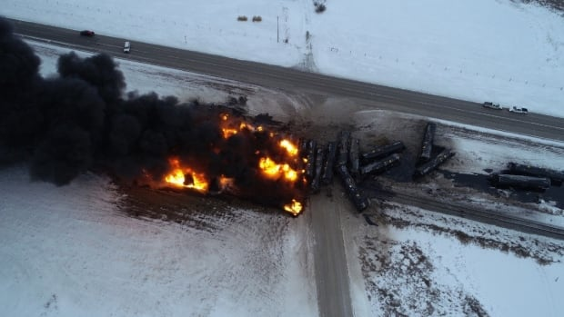 Spill from latest Sask. oil train derailment larger than thought | CBC News