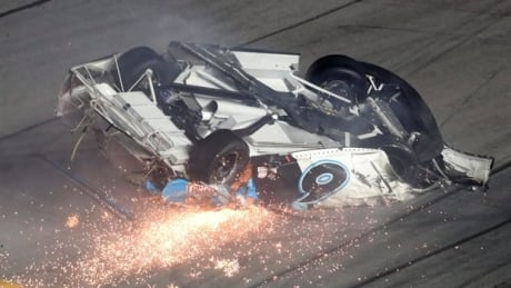 Daytona 500 ends with fiery crash on final lap