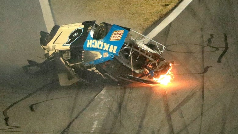 Ryan Newman Hospitalized After Fiery Crash At Daytona 500 Cbc Sports
