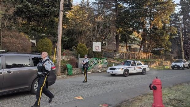 Protest outside B.C. premier's home amid Wet'suwet'en dispute leads to an arrest | CBC News