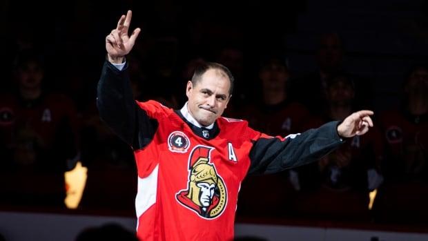 Ottawa Senators retire Chris Phillips' No. 4 jersey in pre-game ceremony | CBC Sports