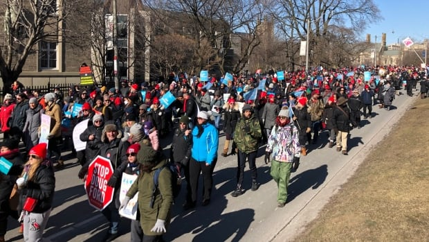Special coverage of Ontario education strikes as teachers rally at Queen's Park | CBC News