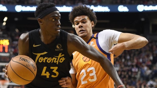 Raptors back to winning ways, cruise past Suns in 1st game since all-star break | CBC Sports