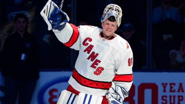 David Ayres all smiles in Carolina after beating Maple Leafs