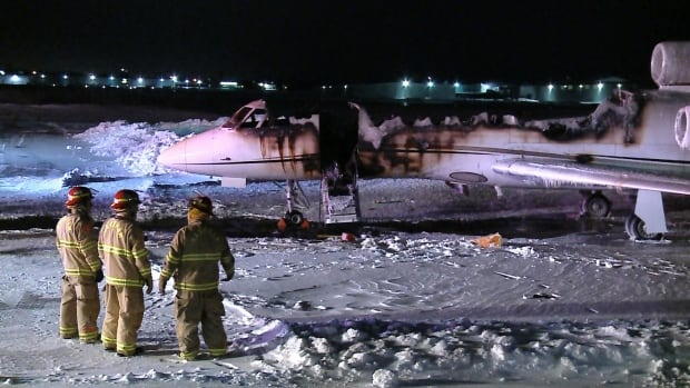 Business jet destroyed by suspicious fire at Buttonville airport | CBC News