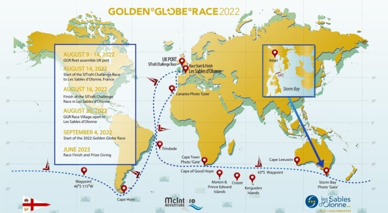 Un Londonien met le cap sur une course exténuante autour du monde : la Golden Globe Race 2022