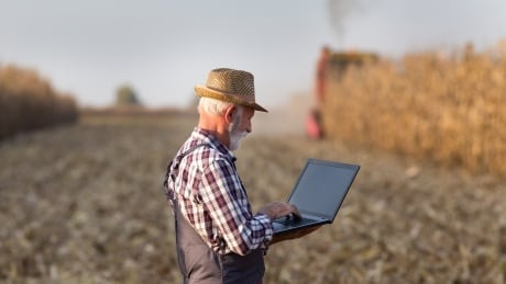 Farming technology computers internet tractor