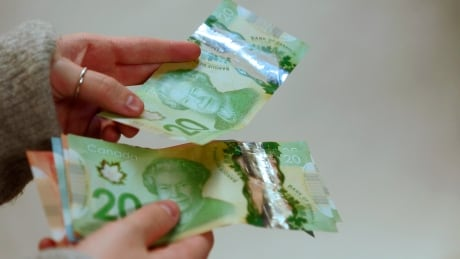Canadian money currency bills dollars