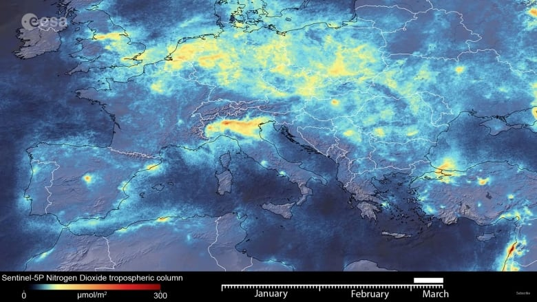 Satellite animation shows pollution clearing over China during coronavirus outbreak
