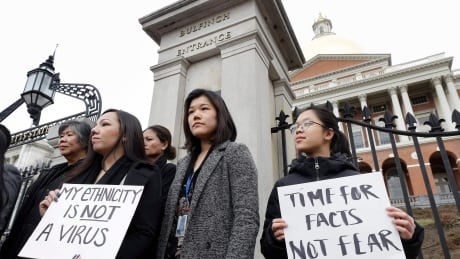 Virus Outbreak Asian Americans Protest