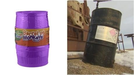 Barrel of monkeys, oil