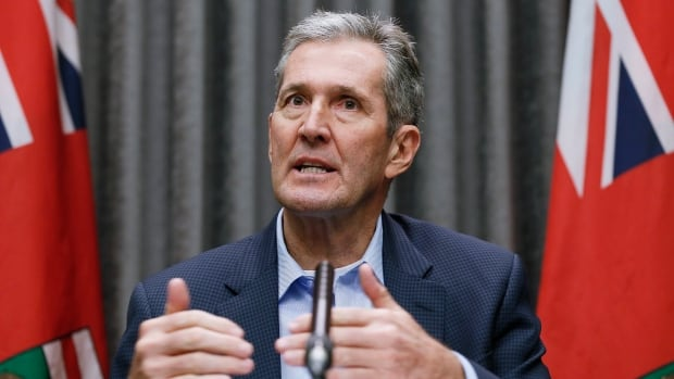 Pallister avoids the mic as his own MLAs disavow his inflammatory remarks on Canada's history | CBC News