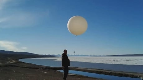 Researcher releases weather balloon