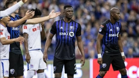 Victor Wanyama on the pitch during his Montreal Impact debut