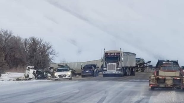 One dead, one in critical condition after fiery crash Thursday near Aberdeen | CBC News