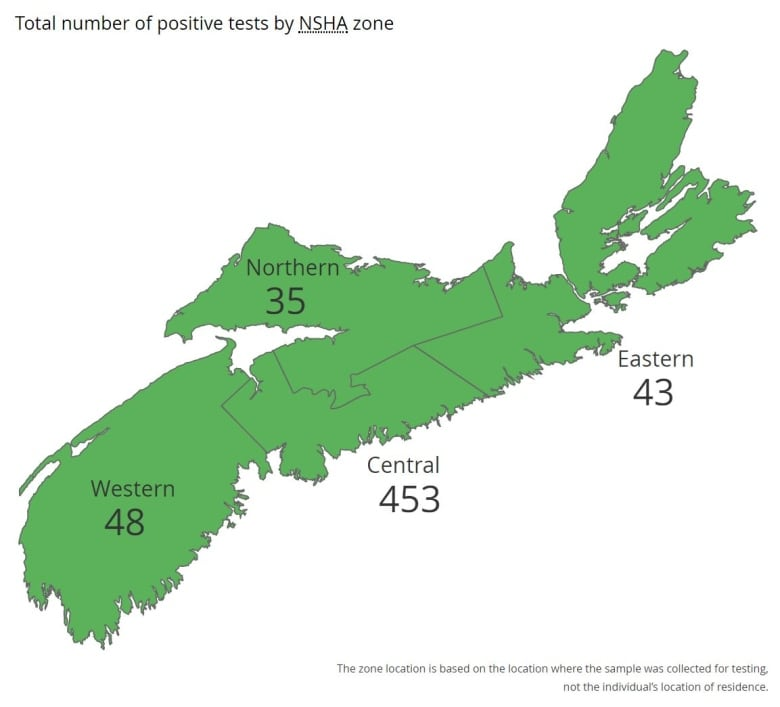 Covid Map: Nova Scotia To Announce COVID-19 Case Numbers For Long