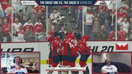 Gretzky, Ovechkin share a laugh during NHL 20 charity game