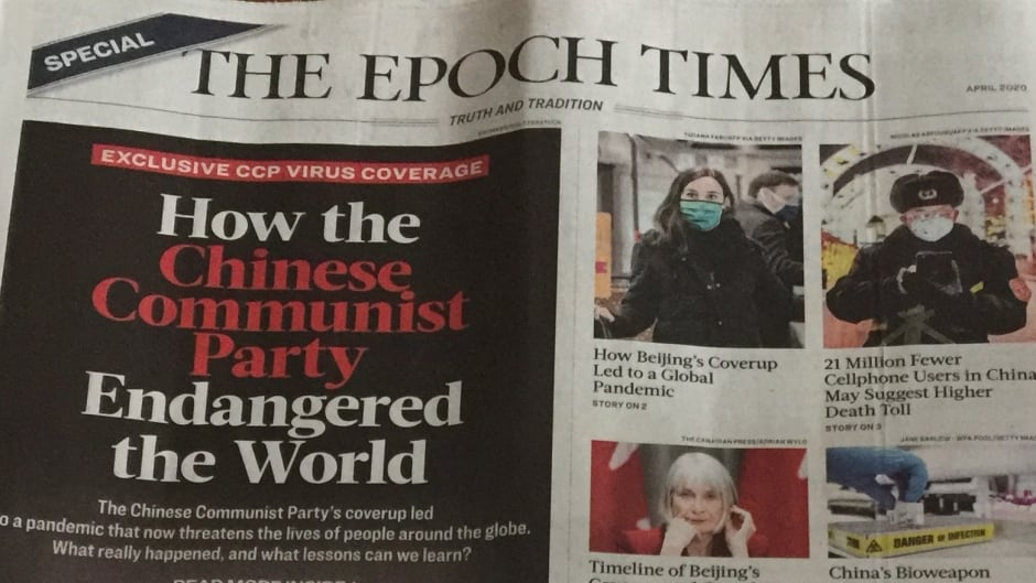 Some Canadians Who Received Unsolicited Copy Of Epoch Times Upset By Claim That China Was Behind Virus Cbc News