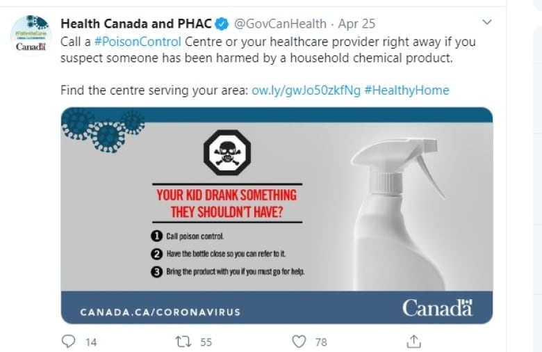 Canadians Are Accidentally Poisoning Themselves While Cleaning To Prevent Covid 19 Cbc News