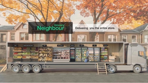 Like giant ice cream trucks, supermarkets on wheels get ready to roll into the neighbourhood | CBC News