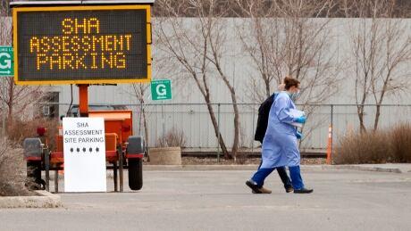 Saskatchewan Health Authority COVID-19 Assessment site nurse PPE patient Coronavirus