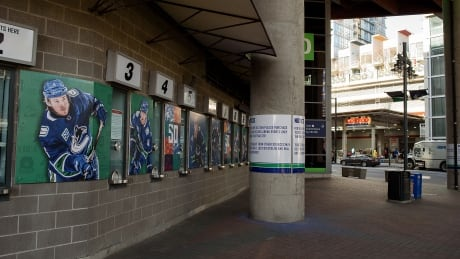 Rogers Arena Vancouver Canucks closed coronavirus