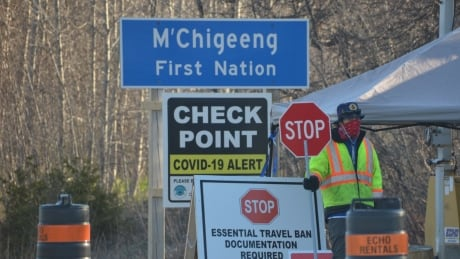 M'Chigeeng checkpoint