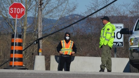 Whitefish River First Nation checkpoint