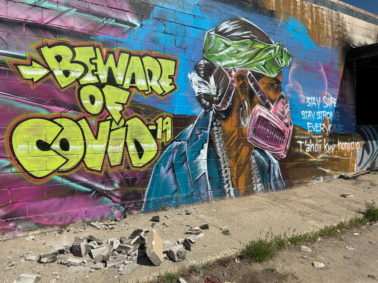 Pandemic Inspired Street Art In Canada And Around The World Cbc News