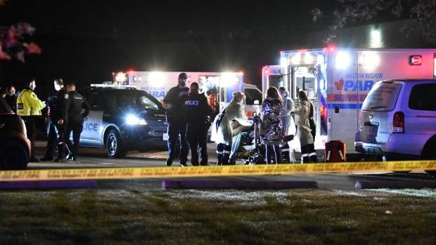 2 males dead following shooting in parking lot in Oakville | CBC News