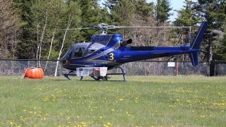 Provincial helicopter Porters Lake fire