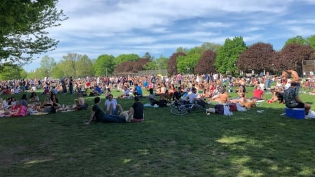 Trinity Bellwoods park in Toronto was packed with people on Saturday, May 23, 2020 during the COVID-19 pandemic.