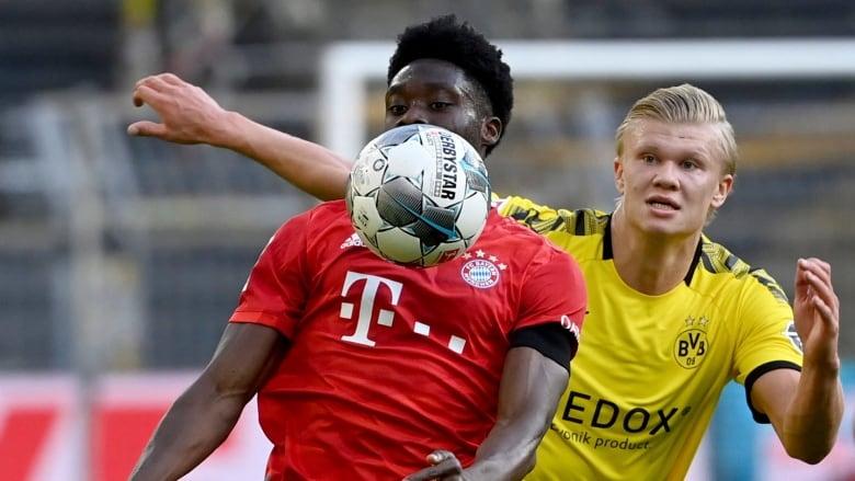 Bayern Road Runner Alphonso Davies Shines In Win Over Dortmund Cbc Sports