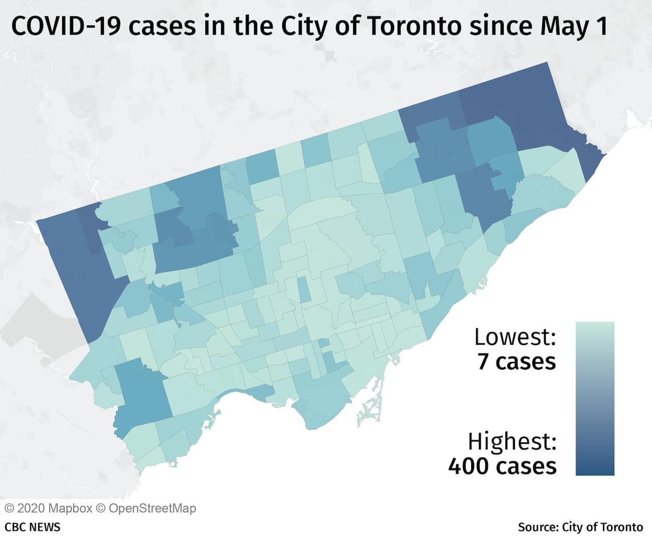 Toronto Breaks Down Geographic Spread Of Covid 19 Showing Local Hot Spots In Detail For First Time Cbc News