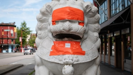 CHINATOWN LIONS DEFACED AGAIN