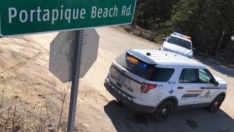 Portapique Beach Road sign