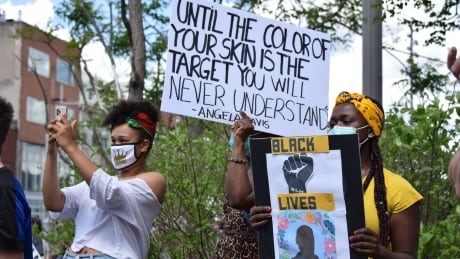 Thousands gathered in Guelph, Ont., on Saturday, June 6, 2020 for a Black Lives Matter solidarity march.