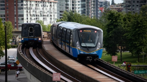 TransLink sets 2028 as the goal for a completed SkyTrain extension to Langley | CBC News
