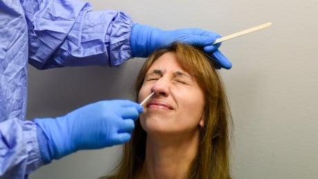COVID-19 testing nasal swab Saskatchewan Health Authority