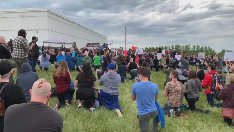 Small Alberta town's Black Lives Matter demonstration draws hundreds despite racist backlash
