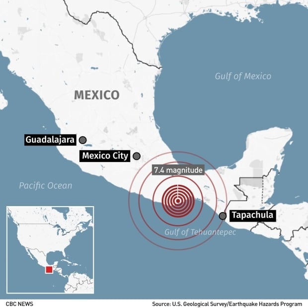 Strong Quake Hits Southern Mexico Killing At Least 6 And