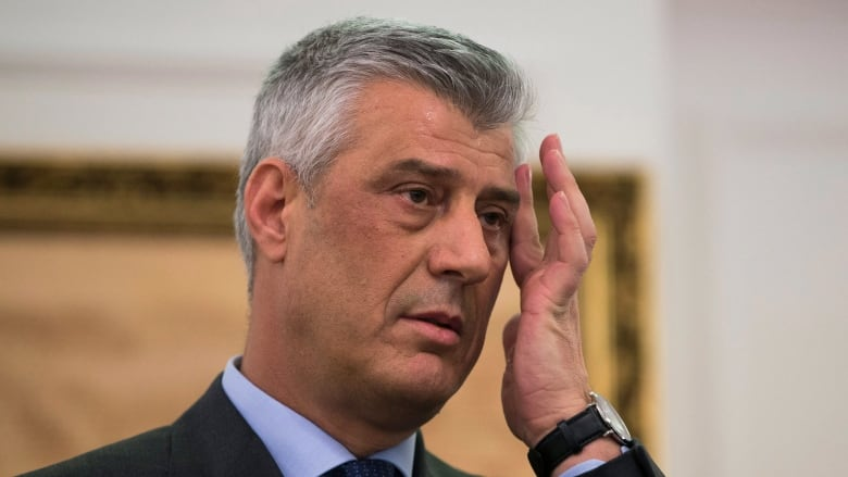 Kosovo's indicted president withdraws from White House talks