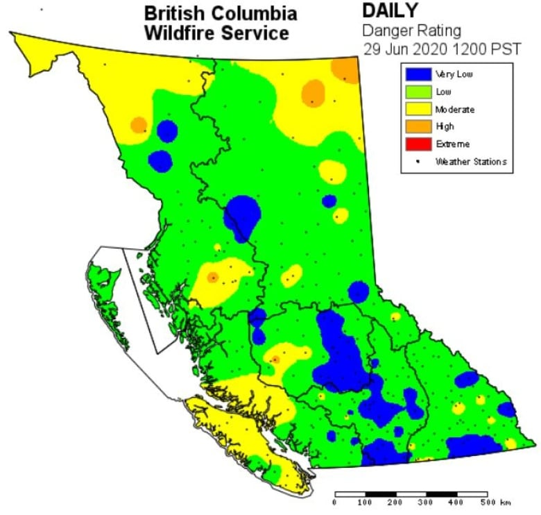 Bc Wildfire Map 2020 Number of wildfires, hectares burned in B.C. so far 'significantly