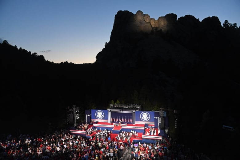 At Mount Rushmore rally, Trump denounces 'merciless campaign to wipe out our history'