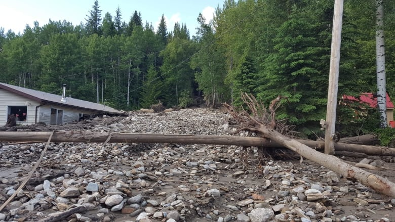 B.C. couple escapes from 'debris flood' that filled home with mud, logs, rocks