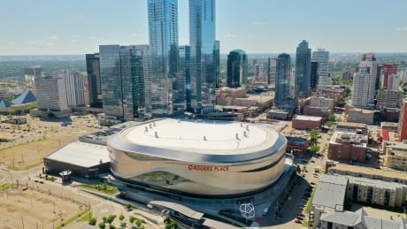 Rogers Place Arena Drone Photos