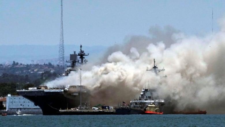 Sailors Injured in Blaze Aboard Ship at San Diego Naval Base