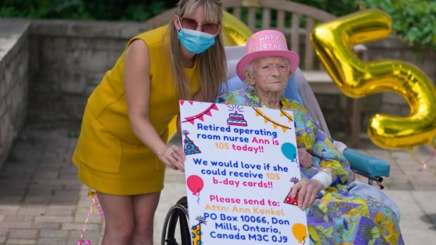 This Hamilton woman wanted 105 cards for her 105th birthday — she got almost 2,000 | CBC News