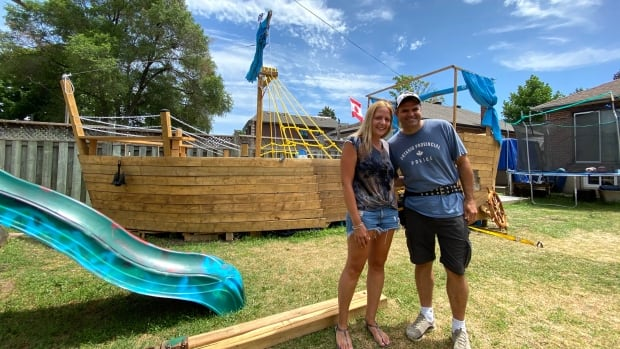 Toronto family forced to dismantle, move backyard 'pirate ship' after complaint to city | CBC News