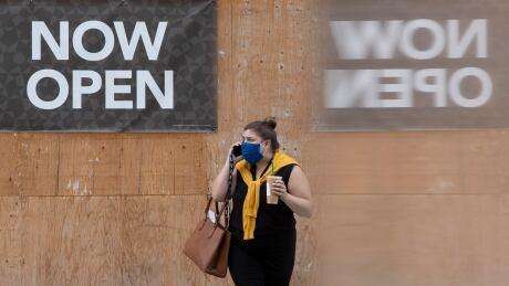 covid coronavirus pandemic now open sign mask pedestrian ottawa